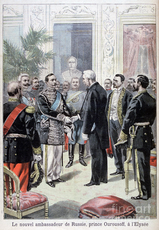 Prince Ourousoff, Ambassador Of Russia Drawing by Print Collector