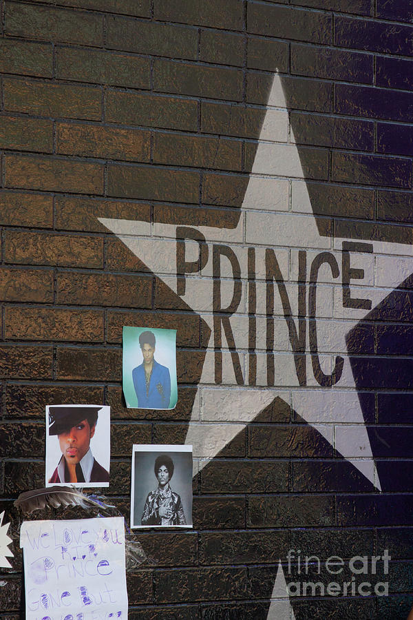 First Avenue Photograph - Prince - Star On Wall by Jim Schmidt MN