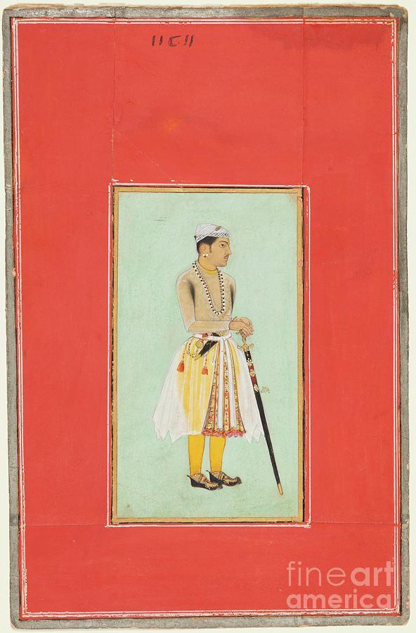 Prince Suraj Singh Rathor Of Bikaner Drawing by Heritage Images