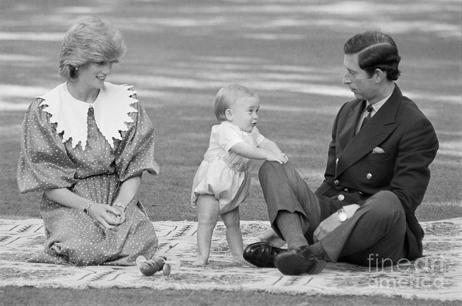 Prince William Taking First Steps Photograph by Bettmann