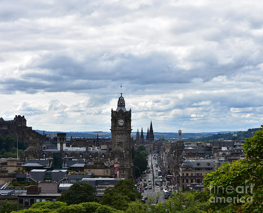 Princes Street from Calton Hill by Yvonne Johnstone