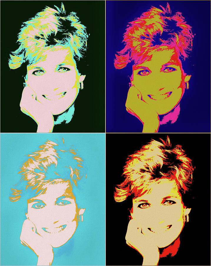 Princess Di Pop Art Painting By Dan Sproul