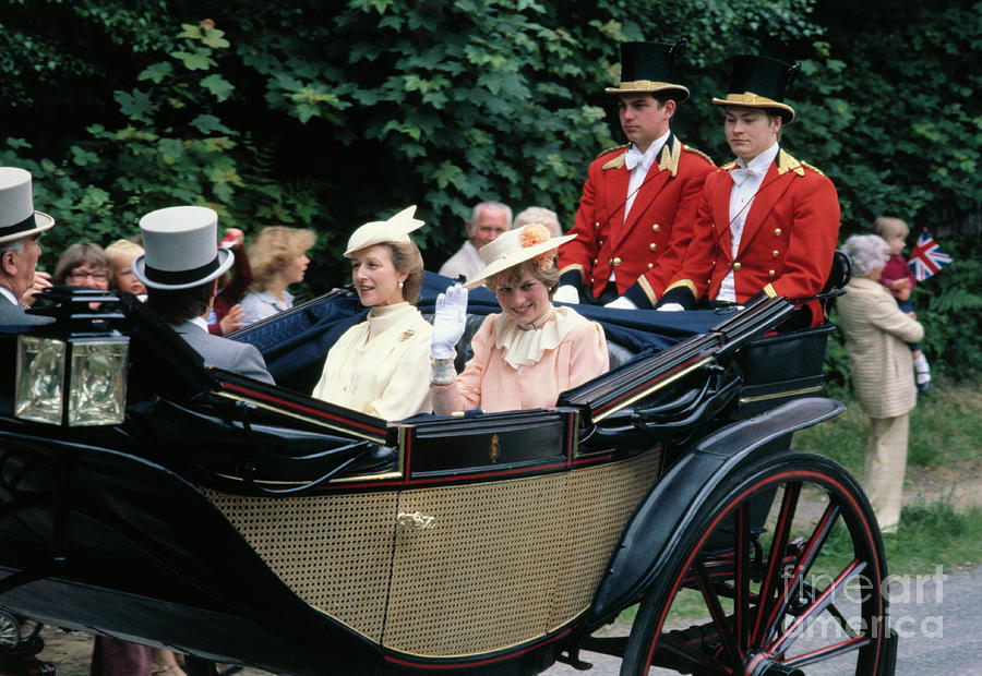 Princess Diana In Carriage At Royal Photograph by Bettmann