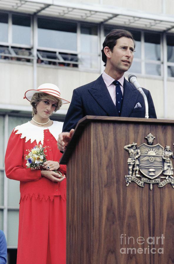 Princess Diana Stands Behind Prince Photograph by Bettmann