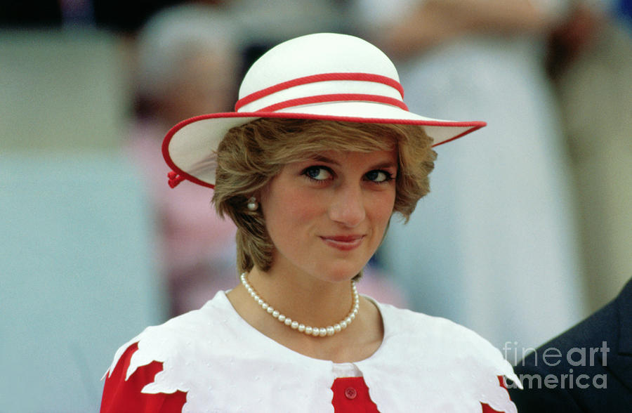 Princess Diana Wearing A Hat Photograph by Bettmann