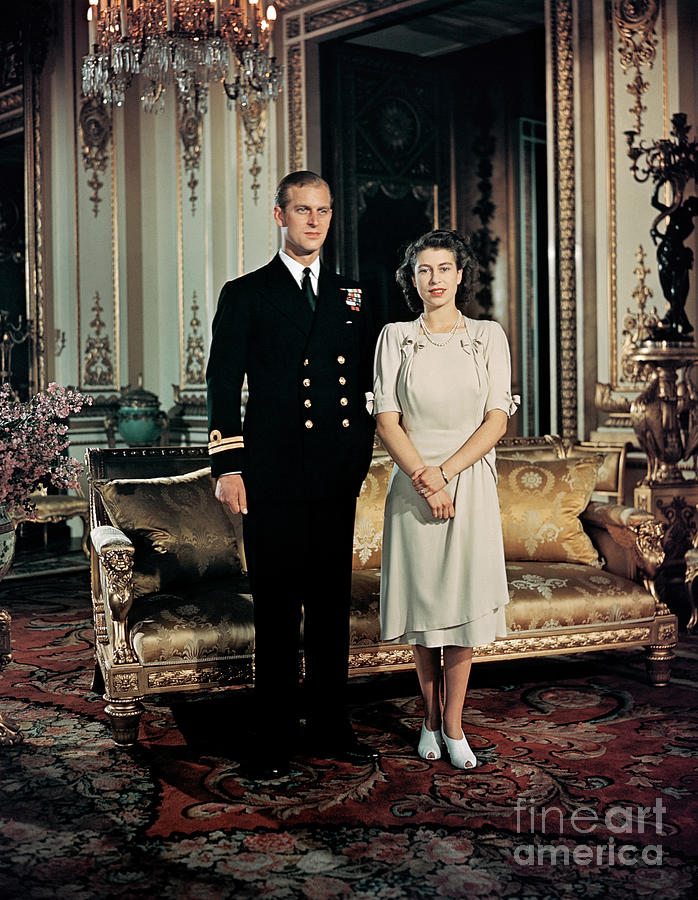 Princess Elizabeth And Prince Philip Photograph by Bettmann