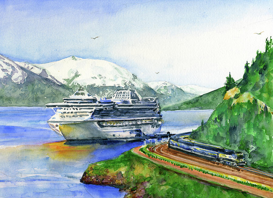 Princess In Whittier, Alaska by John D Benson