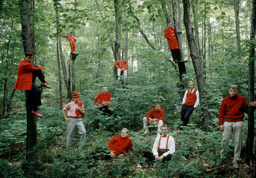 Princeton Men In Red Photograph by Yale Joel