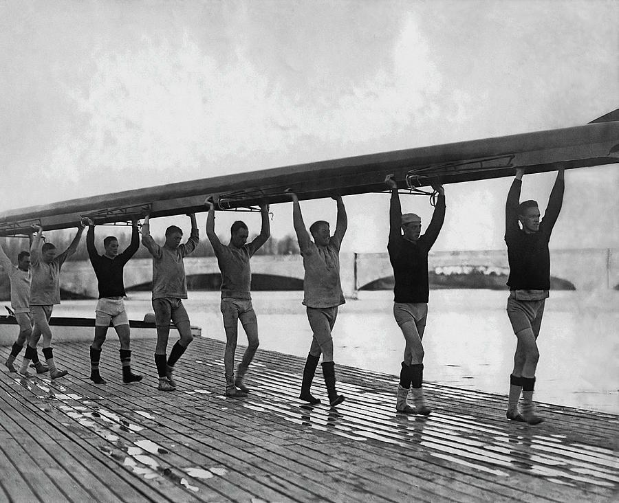 Princeton Rowing Team Photograph by Paul Thompson/fpg