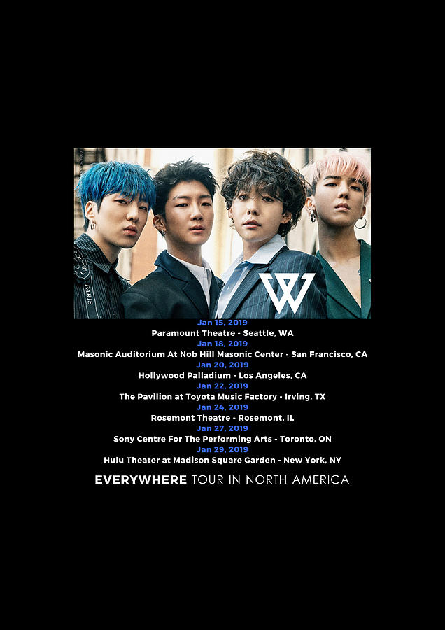 Print Art Kpop Winner Everywhere Tour Date 2019 Gkstore by Genta Kun  Setiawan