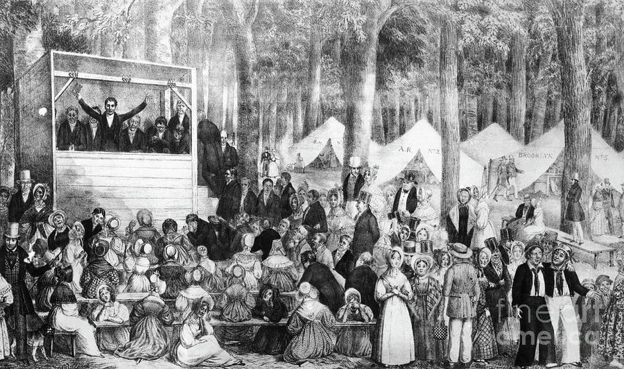 Print Of A Methodist Camp Meeting Photograph by Bettmann