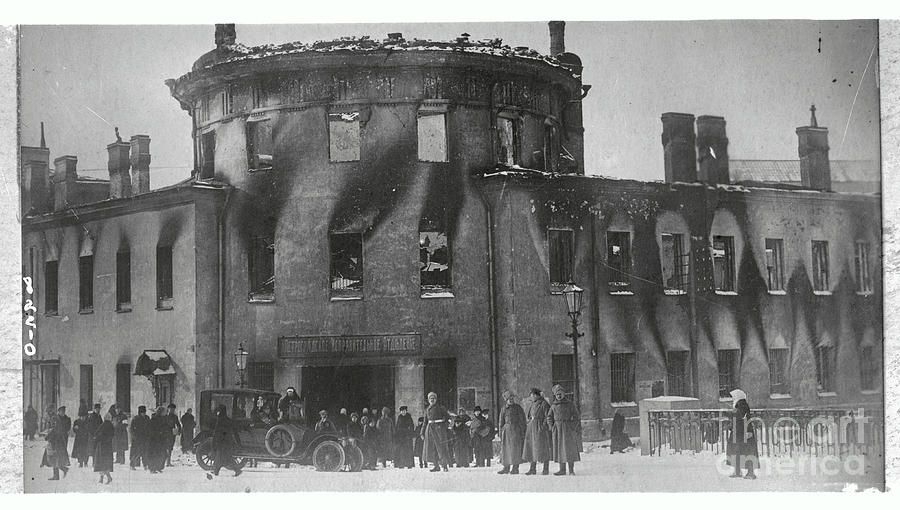 Prison Burning From Mob Photograph by Bettmann