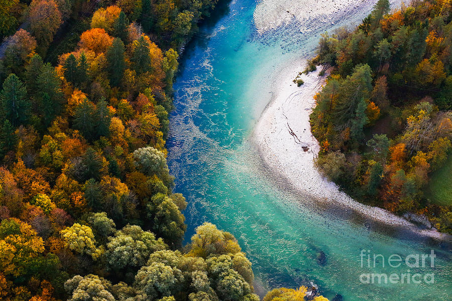 Untouched Photograph - Pristine Alpine Turquoise River by Zlikovec