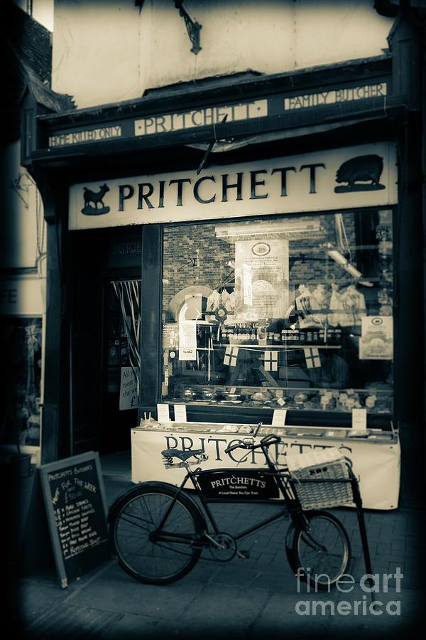 Pritchett's old butchers shop in Butchers Row Salisbury England by Peter Noyce