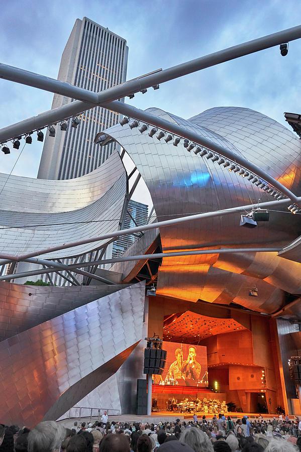 Chicago Photograph - Pritzker Pavilion 2018 Chicago Jazz Festival by Jim Hughes