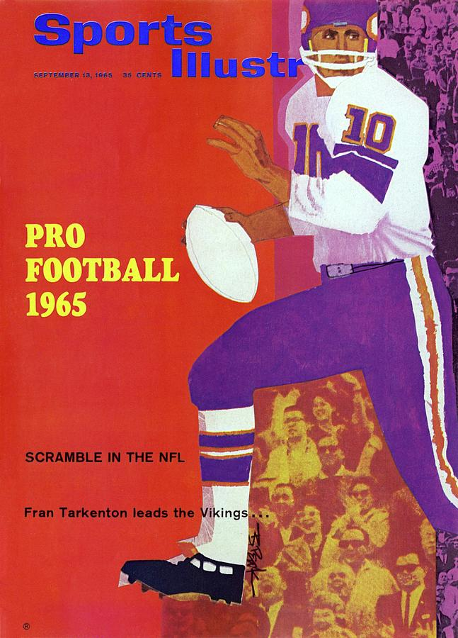 Pro Football 1965 Scamble In The Nfl Sports Illustrated Cover Photograph by Sports Illustrated