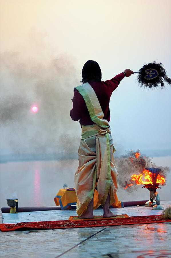 Probhat Aroti Morning Puja Photograph by Apratim Saha