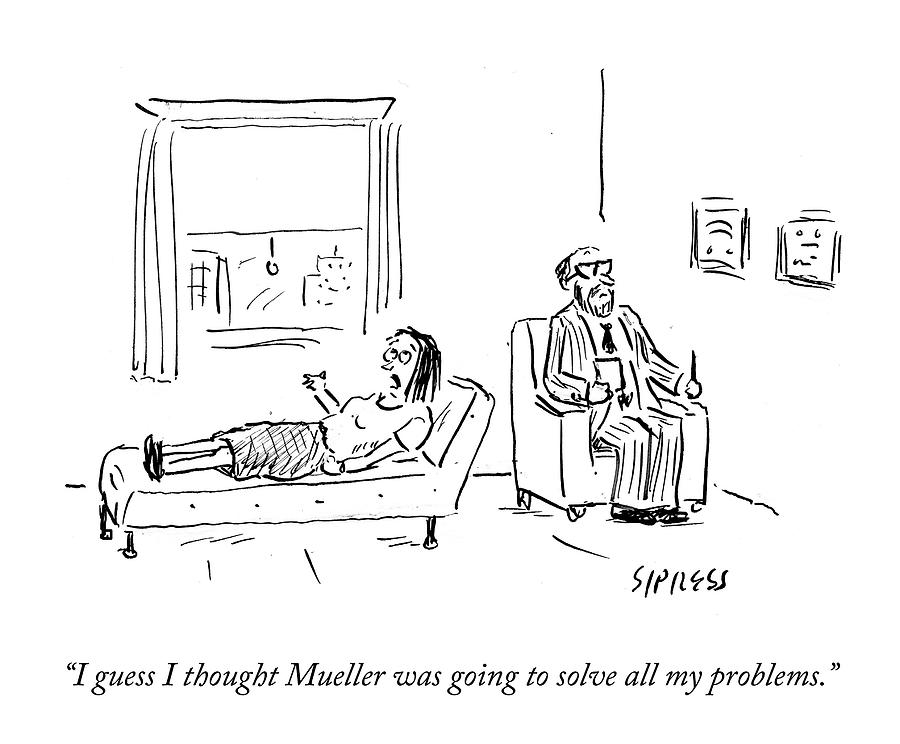 Mueller Problems Drawing by David Sipress
