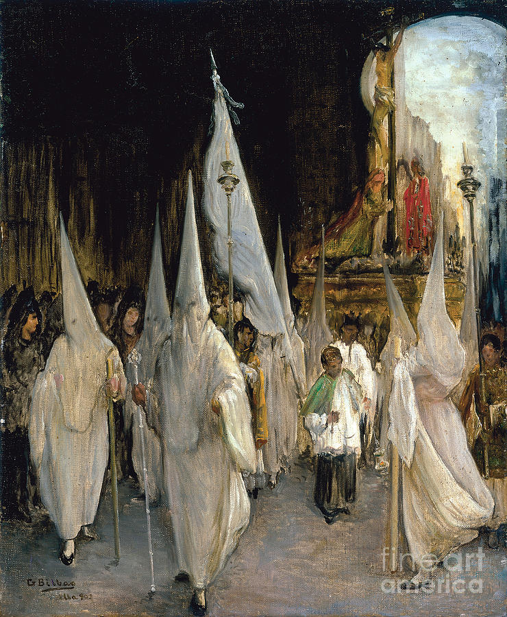 Procession Of The Seven Words. Artist Drawing by Heritage Images