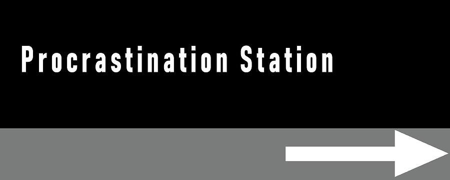Procrastination Station Mixed Media