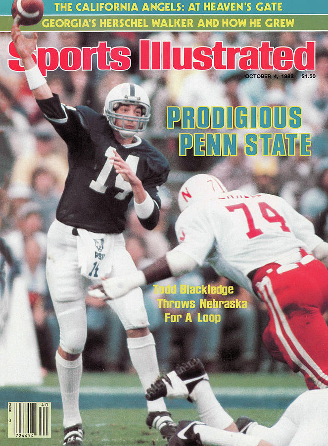Prodigious Penn State Todd Blackledge Throws Nebraska For A Sports Illustrated Cover Photograph by Sports Illustrated