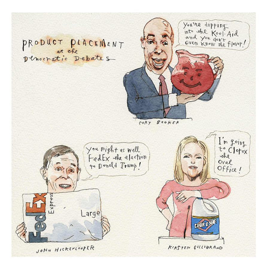 Product Placement Painting by Barry Blitt