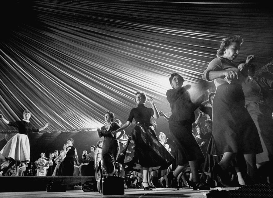 Professional Dancers Teaching The Mambo Photograph by Yale Joel