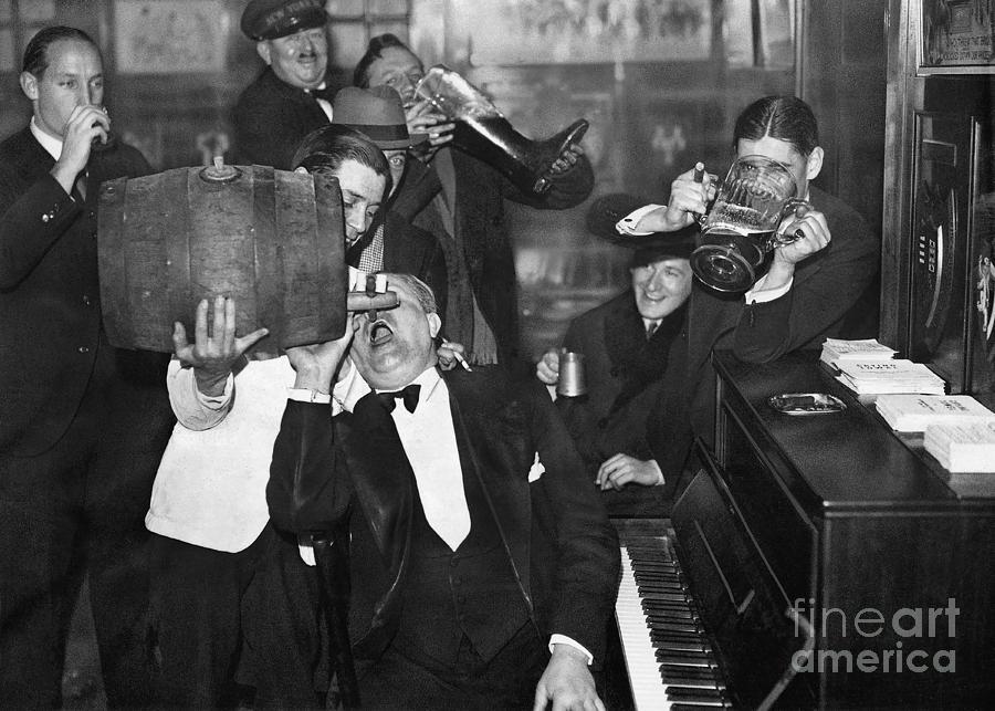 Prohibition Photograph - Prohibition Ends Drink Up by Jon Neidert