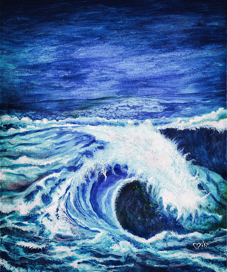 Ocean Painting - Promethea Ocean Triptych 1 by Miko At The Love Art Shop