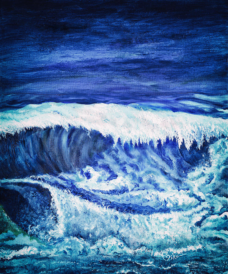 Ocean Painting - Promethea Ocean Triptych 2 by Miko At The Love Art Shop