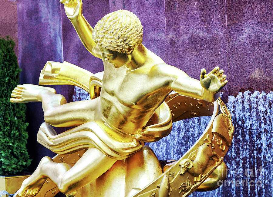 Prometheus Up Close at Rockefeller Center New York City by John Rizzuto