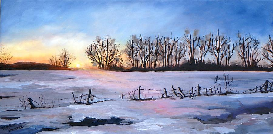 Landscape Painting - Promise  Of A New Day by Monica Ironside