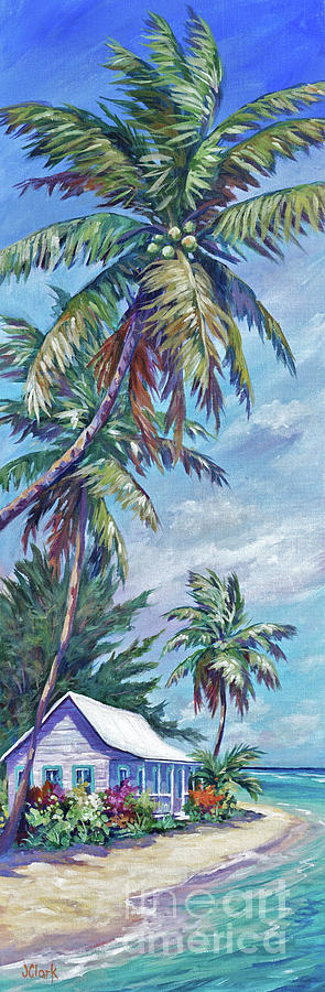 Cayman Painting - Prospect Reef Cottage by John Clark