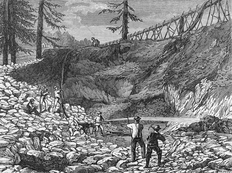 Prospectors Making Claim In Gold Rush Photograph by Hulton Archive