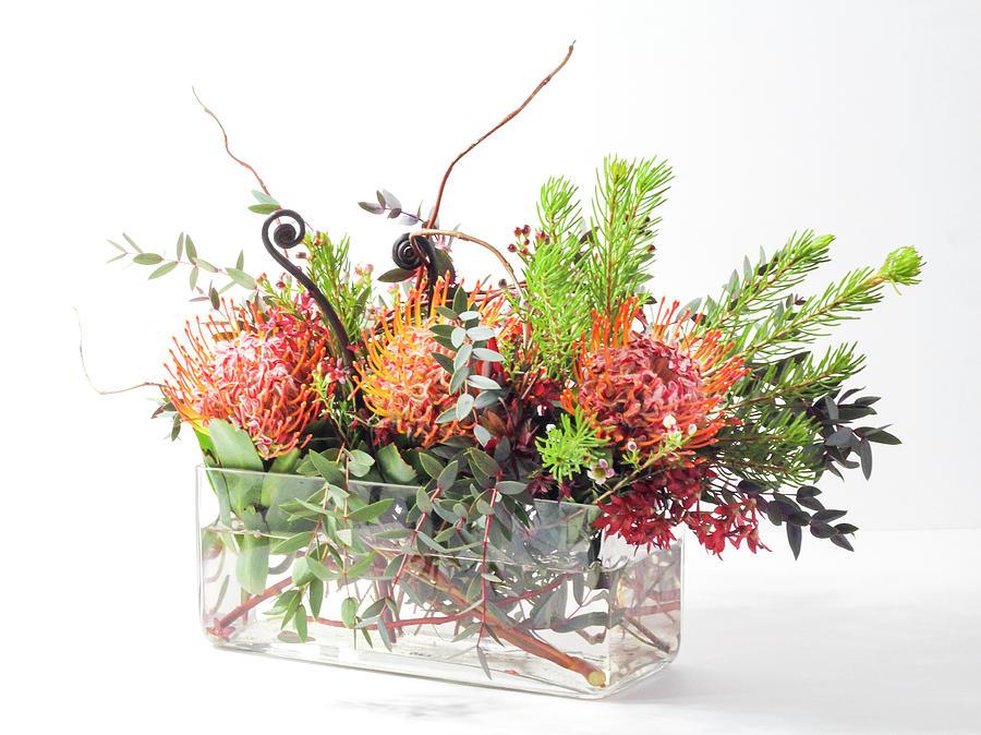 Protea Flower Vase Arrangement by Patti Deters
