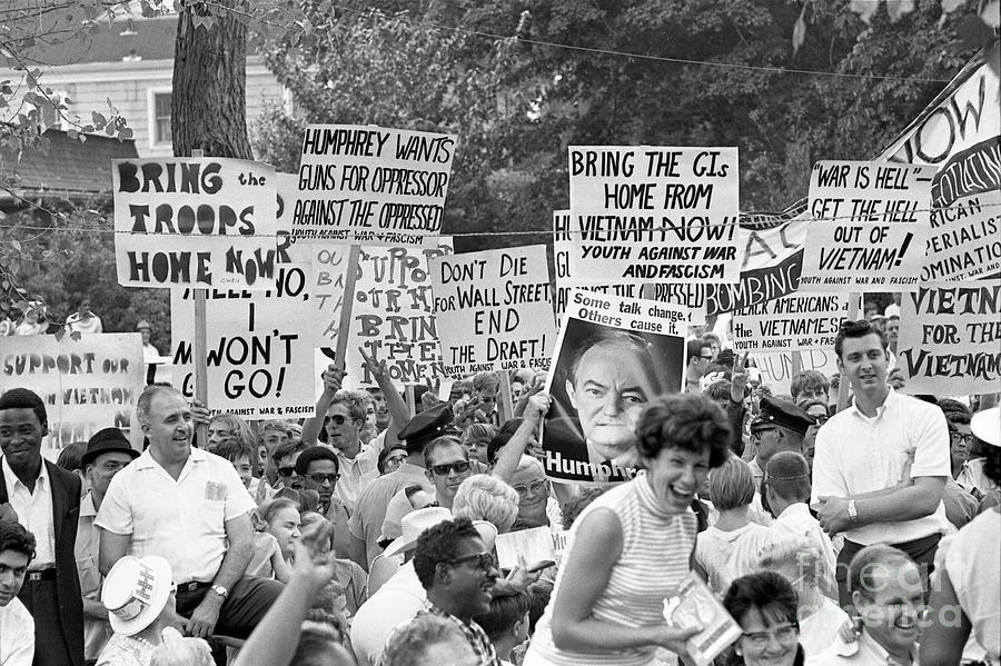 Protests Against Humphrey Photograph by Bettmann