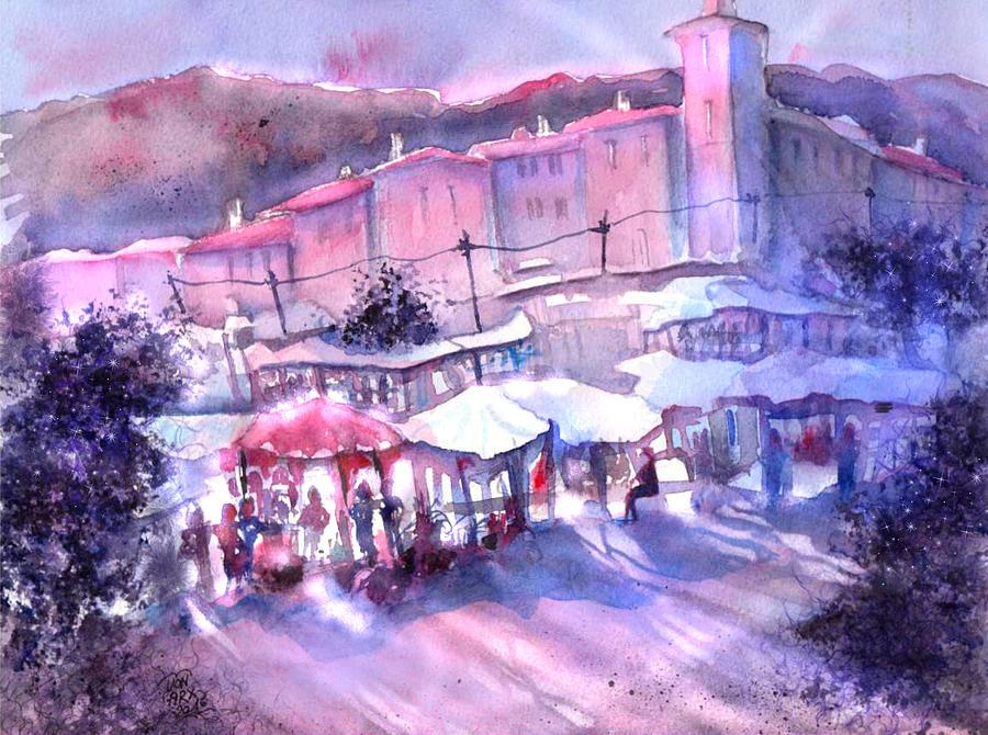 Provence Market Early Morning by Sabina Von Arx