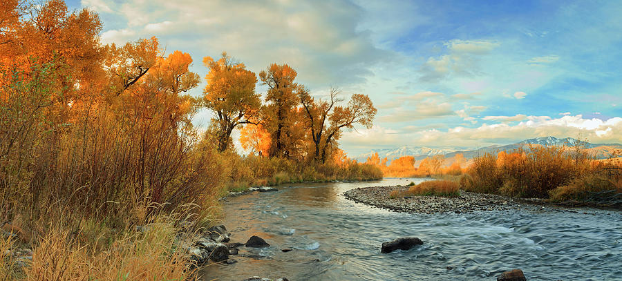 Provo River Fall Panorama by Johnny Adolphson