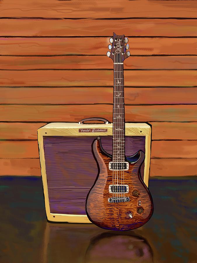 Pauls Guitar/fender Bassman Painting