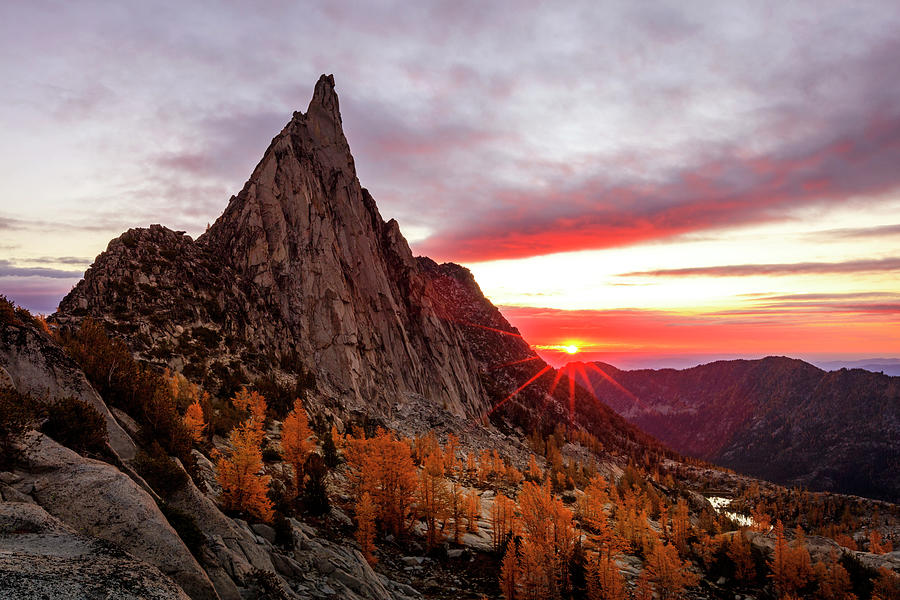Sunrise Photograph - Prusik Peak by Johnny Adolphson