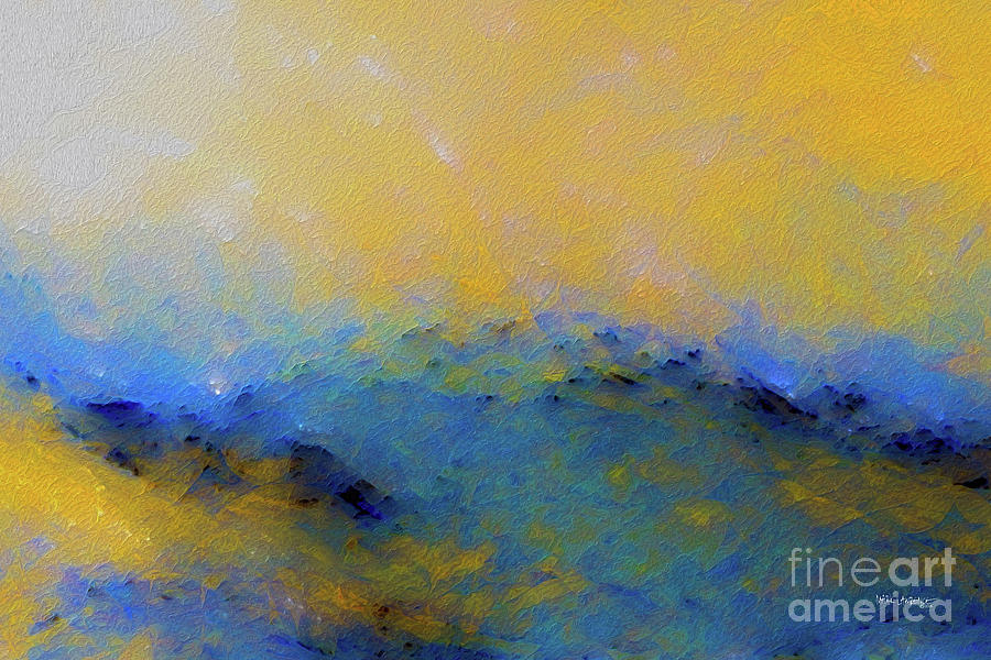 Blue Painting - Psalm 100 4. With Thanksgiving by Mark Lawrence