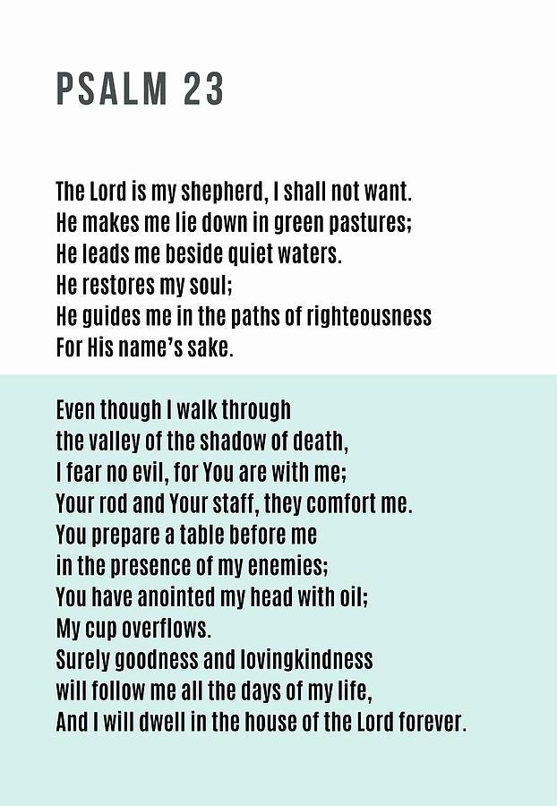 Psalm 23 #minimalist 2 by Andrea Anderegg