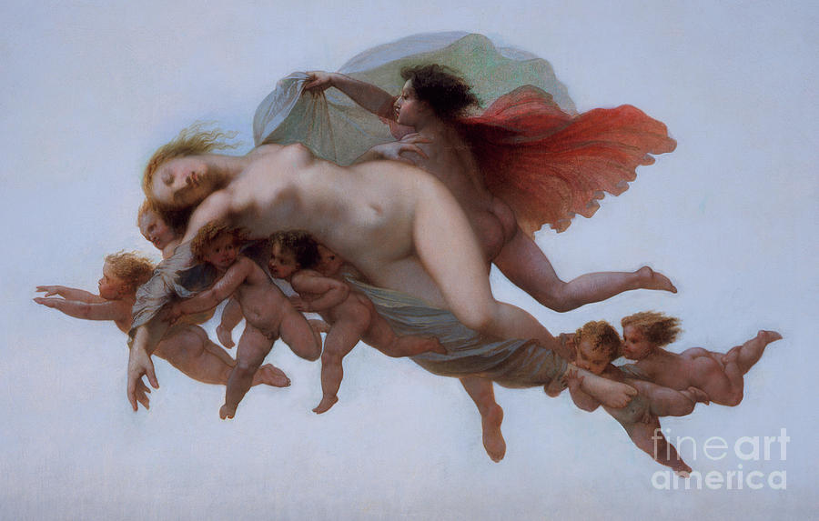 The Golden Ass Painting - Psyche, 1856  by Auguste Barthelemy Glaize