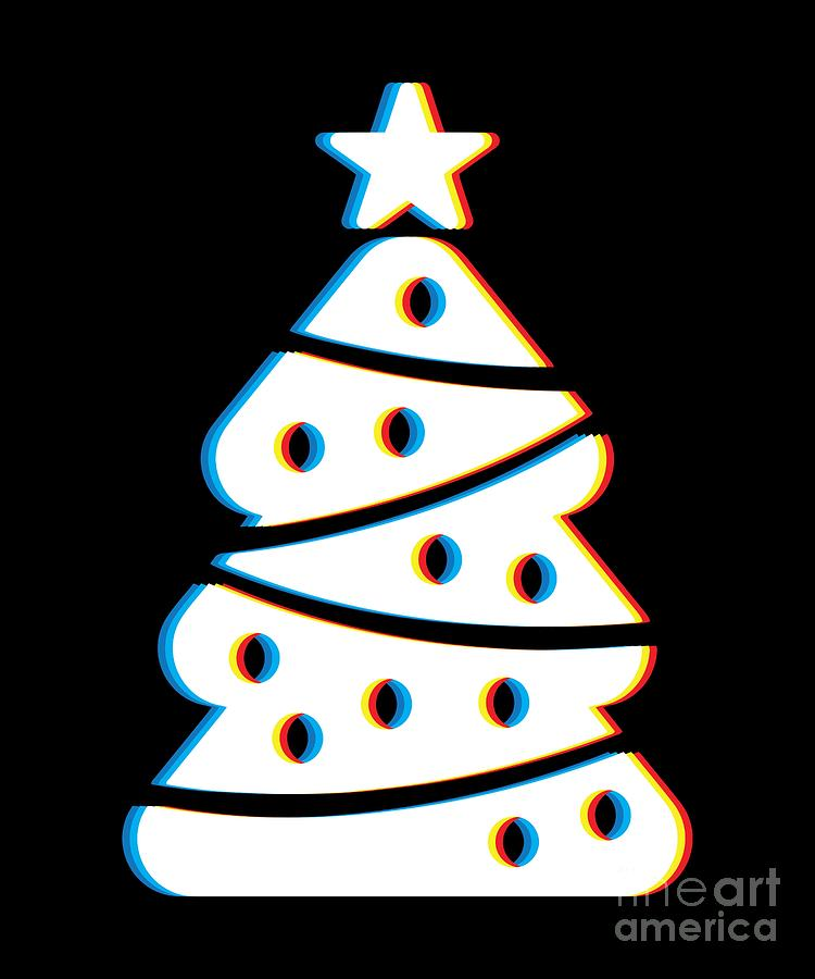 Cool Christmas Tree.Psychedelic Christmas Tree Psy Trance Music Trippy Christmas Party Gift Cool Neon