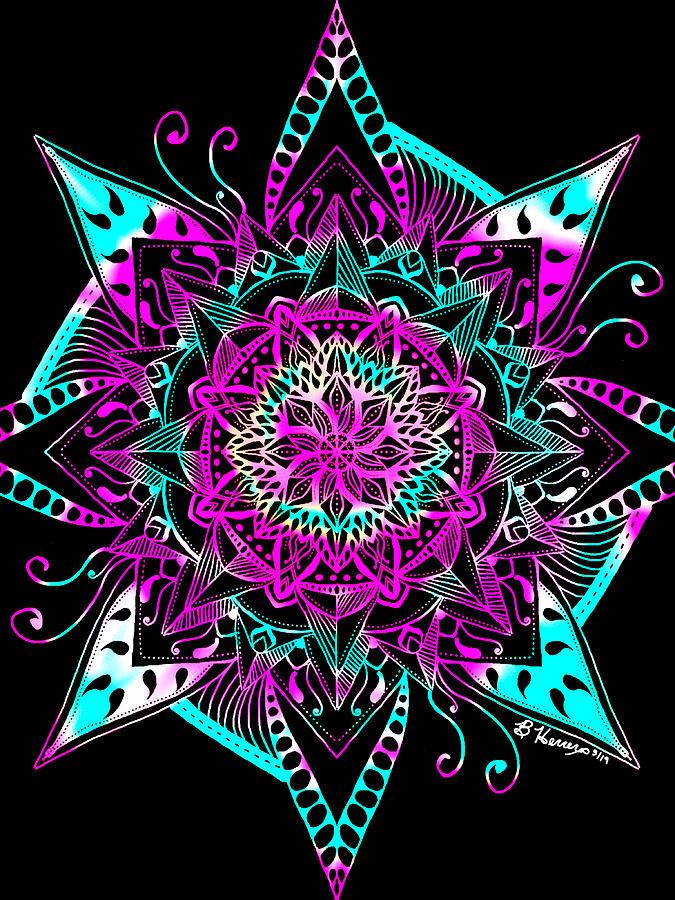Psychedelic Mandala by Becky Herrera