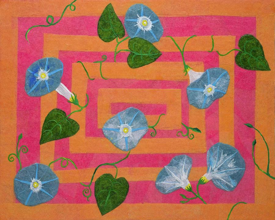 Psychedelic Morning Glories by Laelia Watt