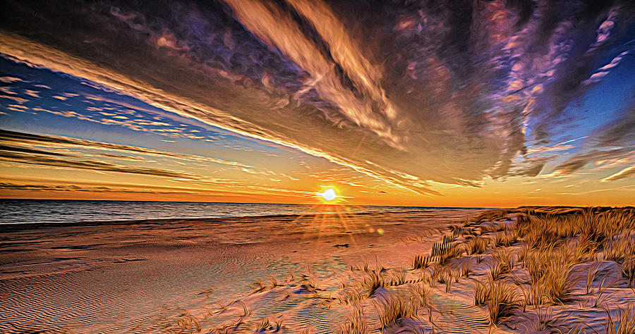 Psychedelic Sunset at Demo by Fred Greco