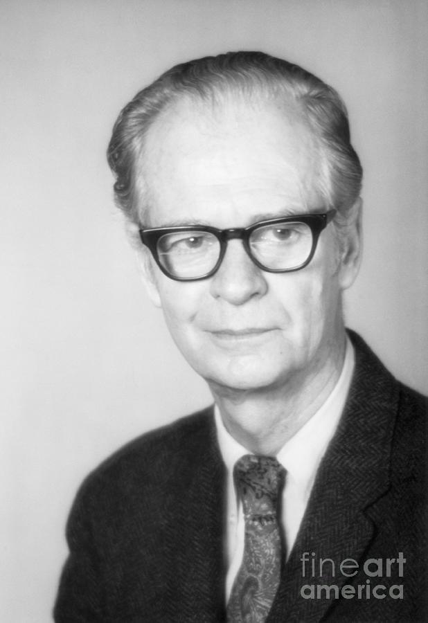 Psychologist B.f. Skinner Photograph by Bettmann