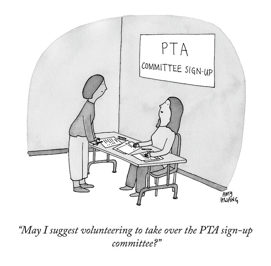 Pta Commettee Sign Up Drawing by Amy Hwang