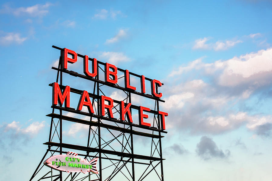 Pike's Place Market Photograph - Public Market By Day by Todd Klassy